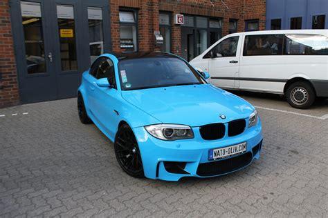 Bmw 1er Coupe Schwarz by Bmw 1er M Coup 201 In Light Blue Mit Schwarz Matten Extras
