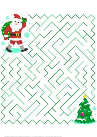 free printable christmas maze games christmas maze puzzle with santa free printable puzzle games