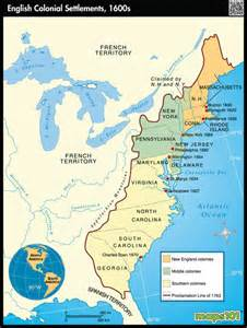 early colonial settlements map by maps from