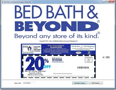 Bed Bath And Beyondcoupon by Printable Bed Bath Beyond Printable Coupons