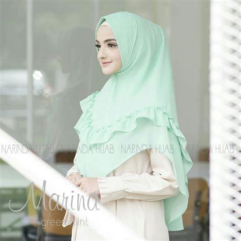 hijab syari bergo ceruti marina terbaru  modern