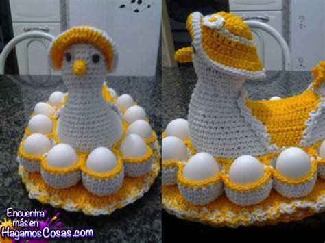 crochet huevos de gallina crochet huevos de gallina gallina de crochet huevera paso