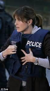 Mess with the law mariska in her police uniform at det olivia benson
