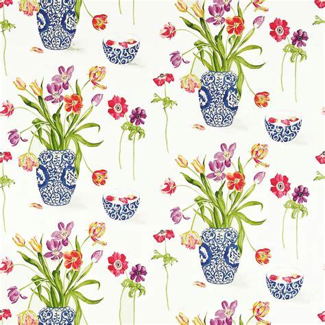 painters garden fabric violet crimson dapgpa203