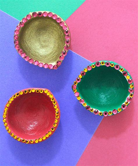 Handmade Diyas - diwali diya images pictures decoration designs ideas of