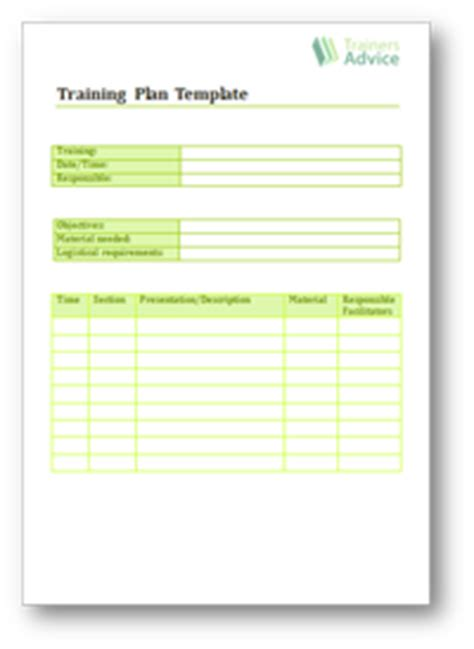 layout design course outline training plans templates trainers advice