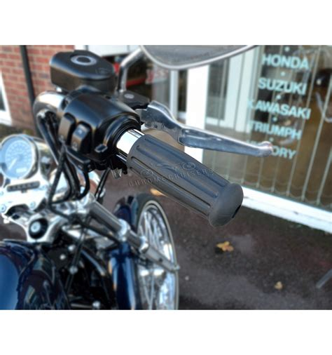 Harley Davidson Throttle Cables by Vintage Custom Chrome And Rubber Grips For Harley Davidson