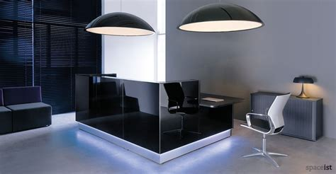 Reception Resks Lina Glass Desk Black Glass Reception Desk
