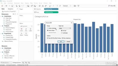 tableau tutorial pdf download saving your workbook as a pdf file