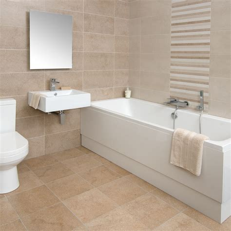 Tile Designs For Bathroom Walls by Bucsy Beige Linea Wall Tile