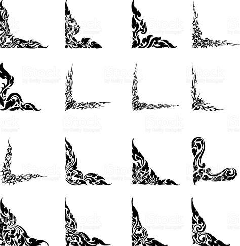 thai design thai design motifs silhouette set 2 stock vector art 149730083 istock