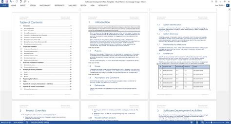 software developer templates software development plan template ms word