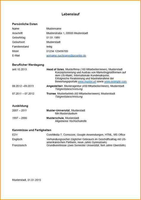 Lebenslauf Ausbildung Beruflicher Werdegang 3 Tabellarischer Lebenslauf Vorlage Ausbildung Reimbursement Format