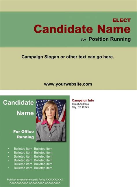Caign Mailer Template 100 political brochure template political brochure