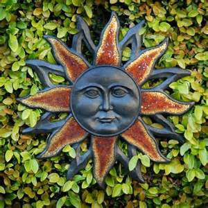 Garden Sun Faces Outdoor Wall Sun Design Sun S Moon S Happy