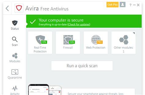 Avira Security free antivirus for windows 2018 avira