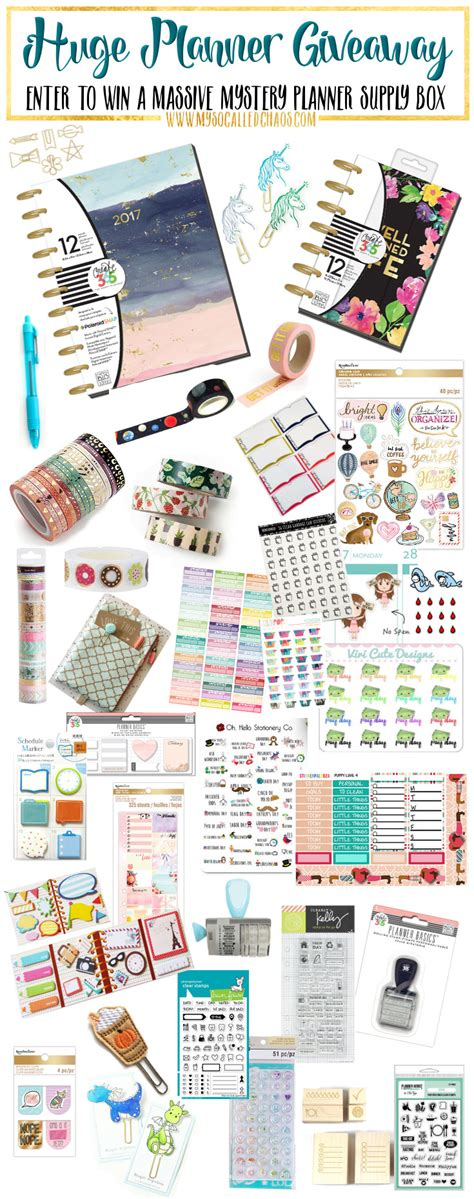 Planner Giveaway - huge planner giveaway january s big giveaway my so called chaos