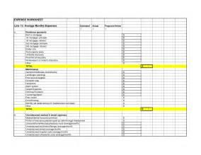 business expense worksheet lesupercoin printables worksheets