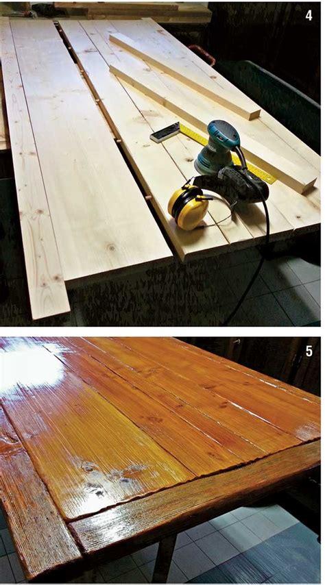 costruzione tavolo tavolo taverna fai da te costruzione illustrata passo