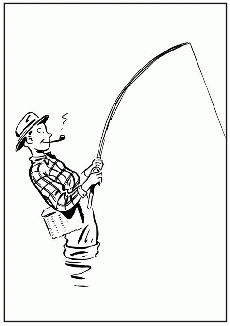 fishing coloring pages boy fishing coloring page coloring home