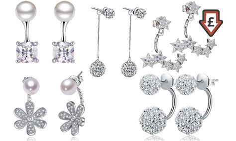 crystals from swarovski 174 earrings groupon goods