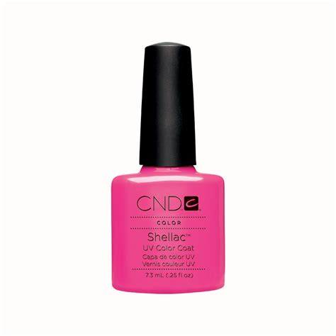 gel nails products cnd shellac uv color coat gel nail pop pink