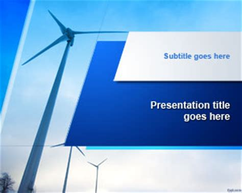 ppt templates free download wind energy wind turbine powerpoint template ppt template
