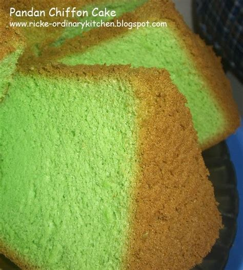 just my ordinary kitchen pandan chiffon cake lagi