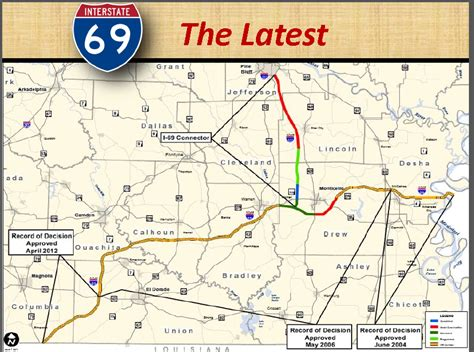 i 69 texas corridor map i 69 in ar and pine bluff i 69 connector ar 530