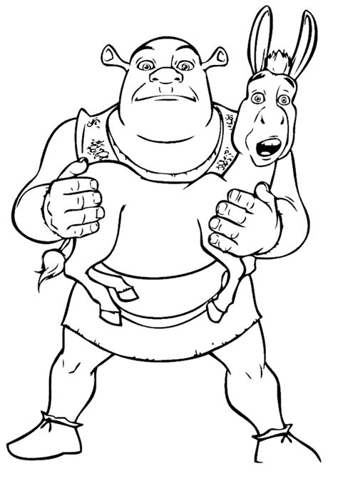 coloring pages of donkey from shrek donkey from shrek coloring pages coloring home