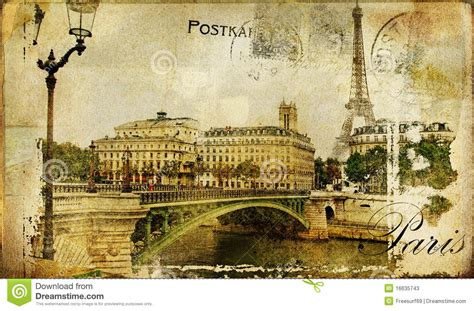 retro photos paris retro card stock illustration image of artistic