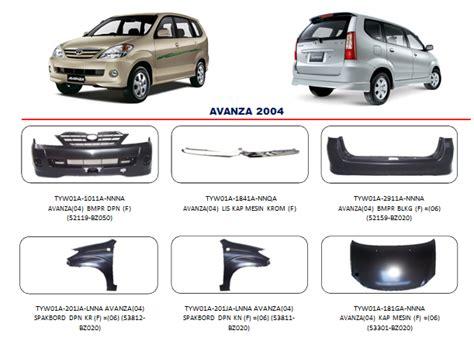 Grill Spare Part Toyota Avanza jual bodypart bemper avanza 2004 sparepart mobil murah