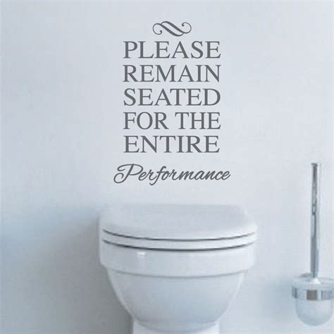 funny quotes for bathroom walls funny toilet vinyl decal sticker from trendy wall designs