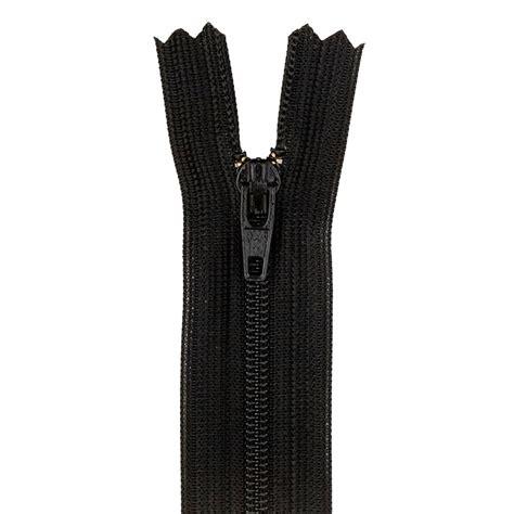 Zipper Big 6 Hitam 14 poly all purpose zipper black discount designer fabric fabric