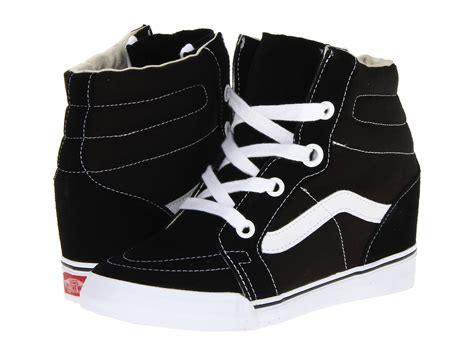 vans wedge sneakers vans sk8 hi wedge shoes shipped free at zappos