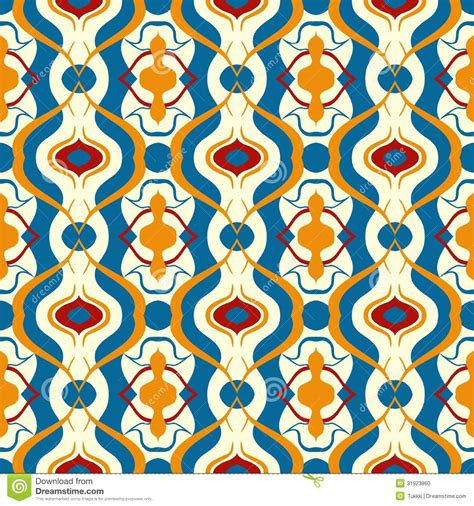Phot Motif multicolor vector pattern with arabic motif stock photo