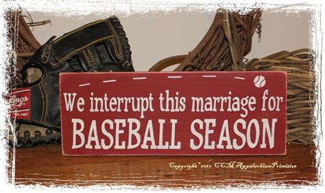 baseball home decor we interrupt this marriage for baseball season wood sign