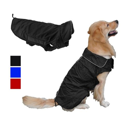shih tzu coats jackets waterproof large coat jacket pet clothes with stand up coveralls collar for
