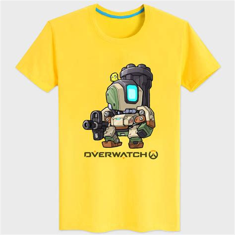 Tshirt Overwatch 9 black overwatch bastion t shirts for mens womens wishining