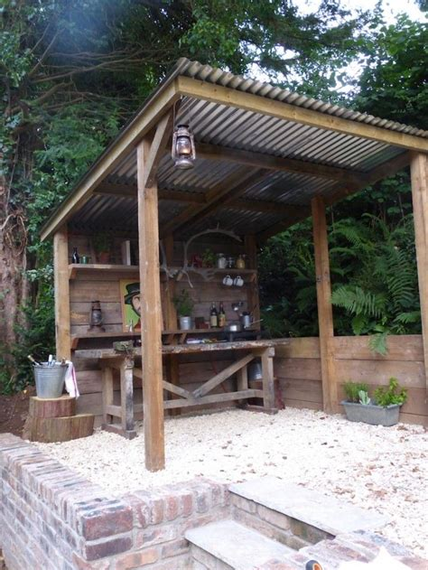 Backyard Bbq Sheds 25 Best Ideas About Simple Outdoor Kitchen On