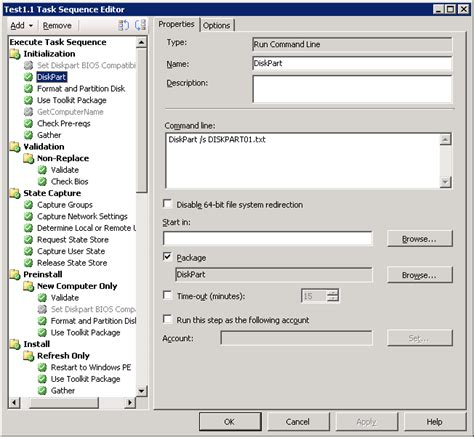 diskpart format step by step sccm 2012 for beginners to intermediate use of diskpart