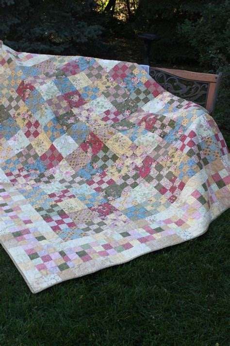 Country Cottage Quilts by Handmade Quilt Quot Country Cottage Chic Quot Soft Floral Fabrics Han