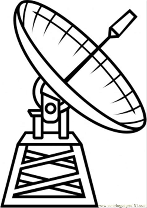 coloring pages satellite technology gt astronomy free