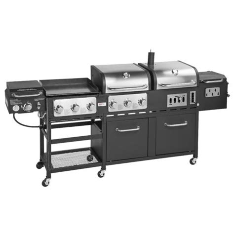 backyard grill gas charcoal combination grill outdoor gourmet pro triton supreme 7 burner propane and