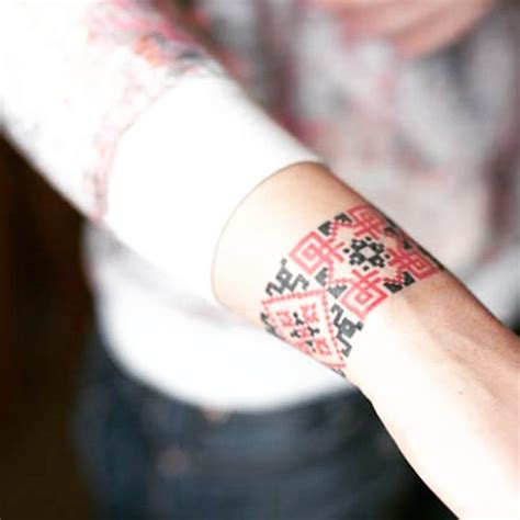 ukrainian tribal tattoos ukrainian pattern forearm best ideas gallery