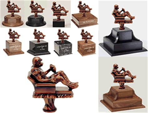 fantasy football armchair quarterback trophy gameball trophies football trophies plaques medals