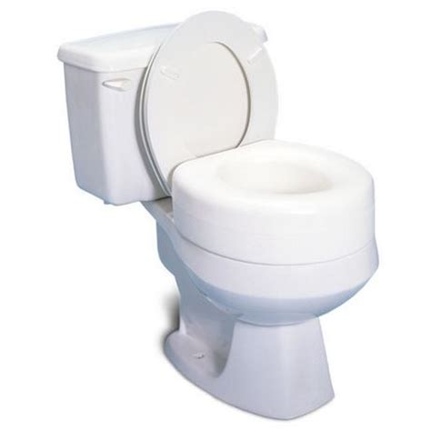 commode raised toilet seat profilio portable raised toilet seat white 4 inch