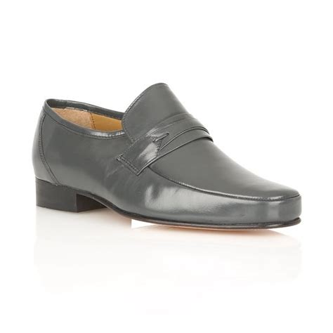 mens grey boots leather buy rombah wallace regent grey leather shoes