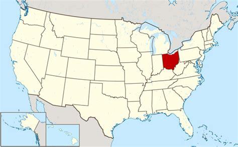 large map of ohio large location map of ohio state ohio state large
