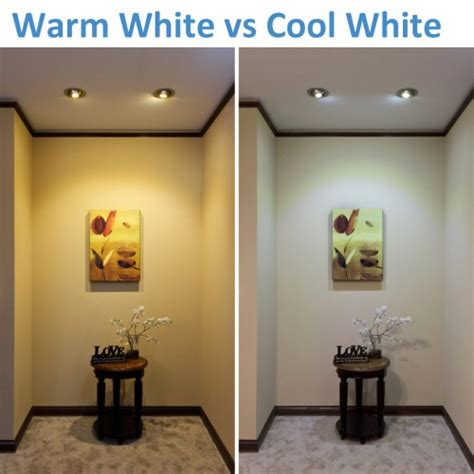 warm led lights warm white vs cool white led lighting